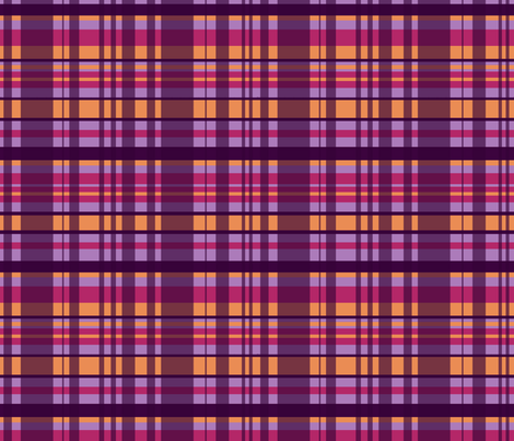 Checkered Purple & Orange fabric by agnieszka_rycombel on Spoonflower - custom fabric