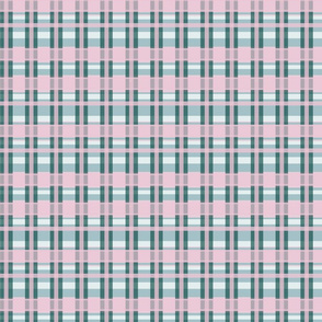 Checkered Pink and Green