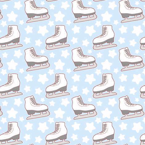 Ice Skating fabric by evacchi on Spoonflower - custom fabric