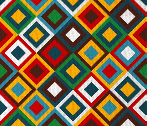 jeweled kilim fabric by tangledvinestudio on Spoonflower - custom fabric