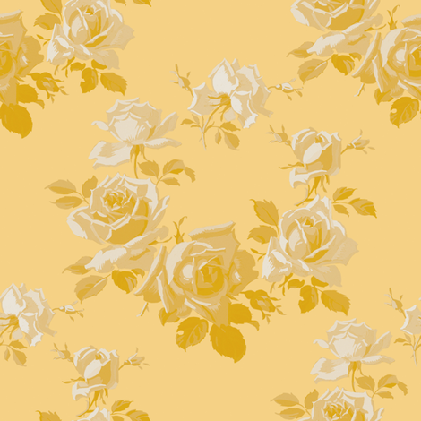 Ailsa deep buttercup fabric by lilyoake on Spoonflower - custom fabric