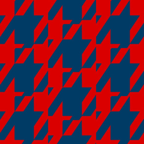 Blue & Red HOUNDSTOOTHB_R