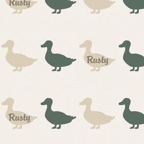 Rusty ducks