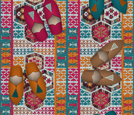 Kilim & Babouches fabric by vannina on Spoonflower - custom fabric