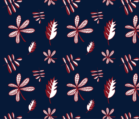 Leaves fabric by criticsdarling on Spoonflower - custom fabric