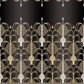 Art Deco black/gold