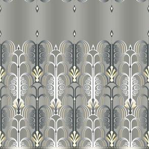 Art Deco white/gold 1