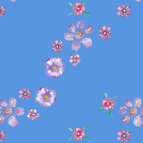 Diagonal Watercolor Floral Print