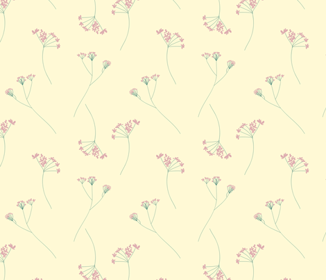 Modern Vintage Blossoms fabric by inezjestine on Spoonflower - custom fabric