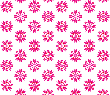 Blushing Stars on White - Small Scale fabric by rhondadesigns on Spoonflower - custom fabric