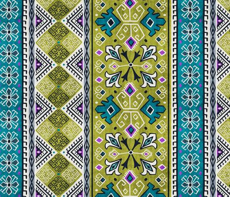 Grand Bazaar - Green Teal fabric by heatherdutton on Spoonflower - custom fabric
