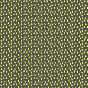 (teeny tiny print) so fresh lemons on dark grey