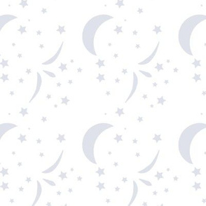 Once Starry Night, White, Platinum, Baby Nursery, Starry Sky