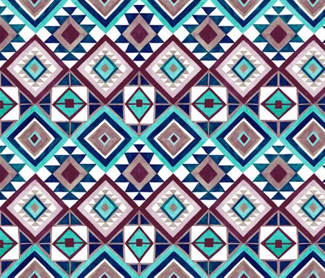 Contemporary Kilim fabric by jenuine_designs on Spoonflower - custom fabric
