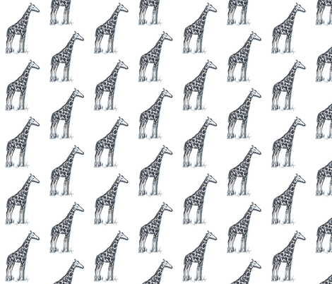 Giraffes in watercolor fabric by kendrashedenhelm on Spoonflower - custom fabric
