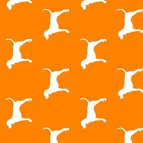 coonhound on custom orange || dog fabric (90)
