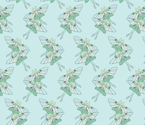 The Luna Moth Twins  fabric by katie_hayes on Spoonflower - custom fabric