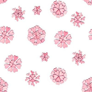 pink heart flakes