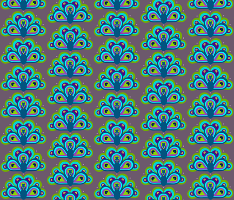 Art Deco Pretty Peacock fabric by painted_poetry on Spoonflower - custom fabric