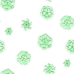 green heart flakes