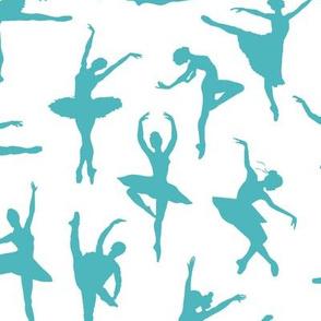 Turquoise Ballerinas // Large