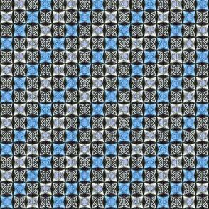 Winter Sport Geometric, Blue, Small