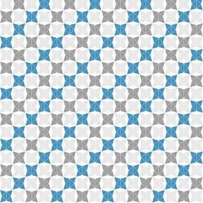 Winter Snow Sport Geometric, Blue and Gray, Small