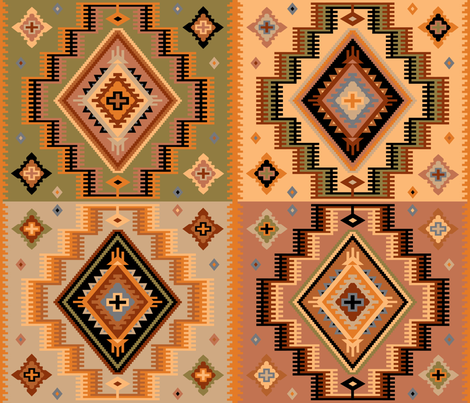 Killer Kilim  fabric by belbooth on Spoonflower - custom fabric