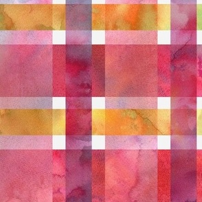 twill plaid watercolor pink
