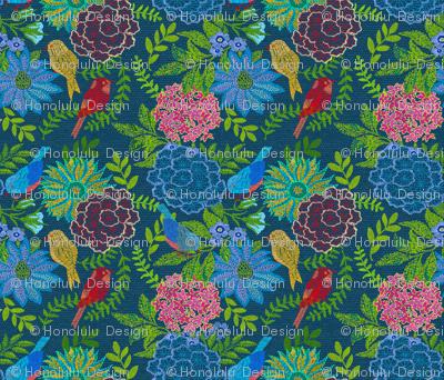 Woven Garden Turquoise