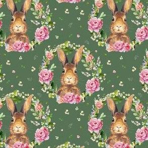 """4"""" 2018 Some Bunny Loves Me /  Dark Green"""