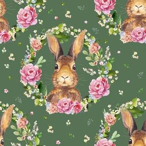 """8"""" 2018 Some Bunny Loves Me /  Dark Green"""