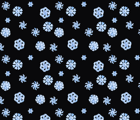 Blue heart flakes 2 fabric by martha_emily_designs on Spoonflower - custom fabric