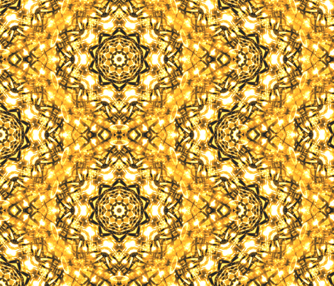 Sparkle  Kaleidescope Golden Squiggles fabric by bobbinaround4u on Spoonflower - custom fabric