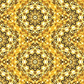 Sparkle  Kaleidescope Golden Squiggles