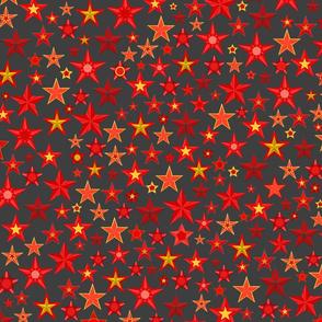 Red stars. Seamless pattern.
