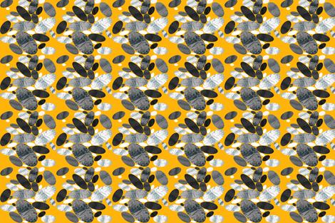 Stone Pebble Path yellow white fabric by barbarapritchard on Spoonflower - custom fabric