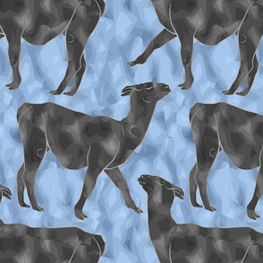 Moody Mod Llamas - pewter slate