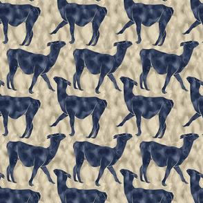 Moody Mod Llamas - navy sand small