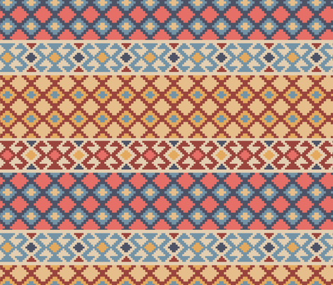 Patchwork Turkish Rug fabric by diseminger on Spoonflower - custom fabric