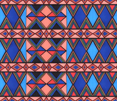 modern kilim pattern fabric by bohojouel on Spoonflower - custom fabric