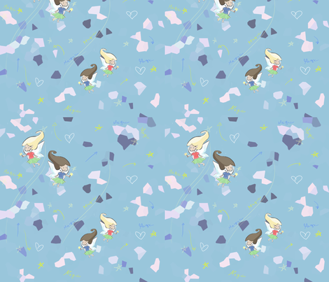 tile fairy fabric by fabre on Spoonflower - custom fabric