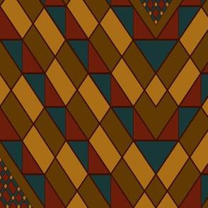 Kilim Carpet  burgundy accent