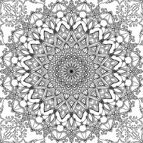 Mandala Project 578 | Black and White Mandala