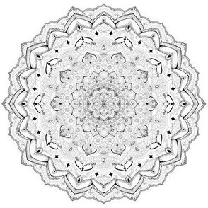 Mandala Project 627 | Black and White