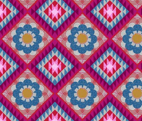 mod floral kilim fabric by ottomanbrim on Spoonflower - custom fabric