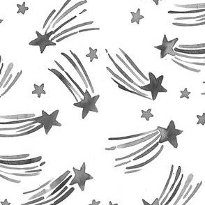 shooting star black and white
