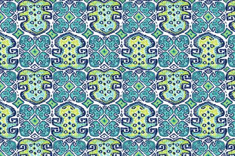 Monstera Kilim (white) fabric by helenpdesigns on Spoonflower - custom fabric
