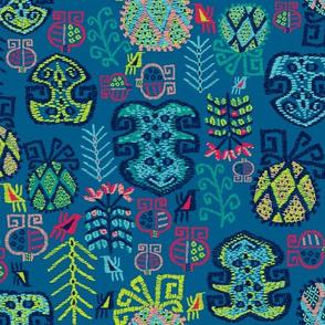 Tropik Bahci Kilim (Pantone Mykonos Blue)
