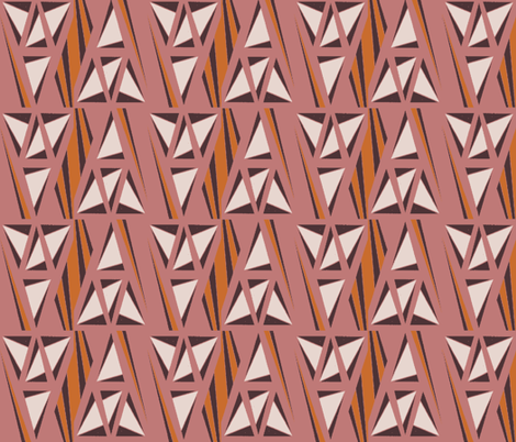 Tribal Origami Triangles  fabric by blink_on_my_nose_ on Spoonflower - custom fabric
